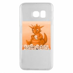 Чохол для Samsung S6 EDGE Cute dragon with skulls