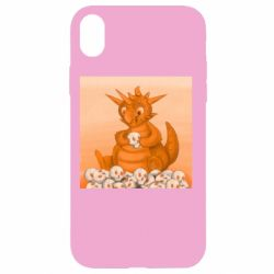 Чохол для iPhone XR Cute dragon with skulls