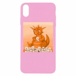 Чохол для iPhone Xs Max Cute dragon with skulls