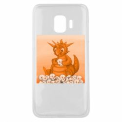 Чохол для Samsung J2 Core Cute dragon with skulls
