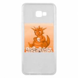 Чохол для Samsung J4 Plus 2018 Cute dragon with skulls
