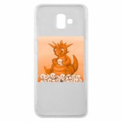 Чохол для Samsung J6 Plus 2018 Cute dragon with skulls