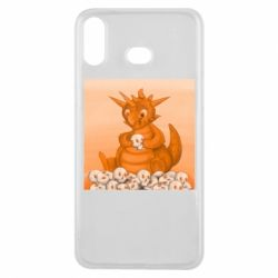 Чохол для Samsung A6s Cute dragon with skulls