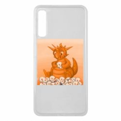 Чохол для Samsung A7 2018 Cute dragon with skulls