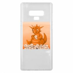 Чохол для Samsung Note 9 Cute dragon with skulls
