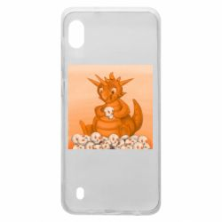 Чохол для Samsung A10 Cute dragon with skulls