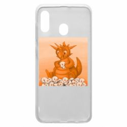 Чохол для Samsung A30 Cute dragon with skulls