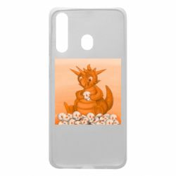Чохол для Samsung A60 Cute dragon with skulls