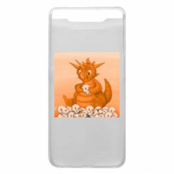Чохол для Samsung A80 Cute dragon with skulls