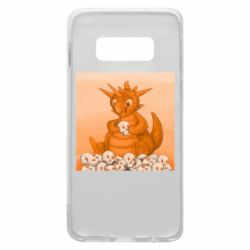 Чохол для Samsung S10e Cute dragon with skulls