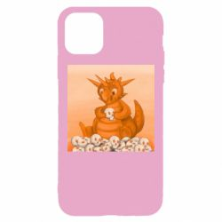Чохол для iPhone 11 Pro Max Cute dragon with skulls