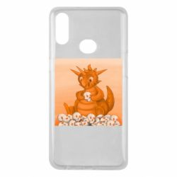 Чохол для Samsung A10s Cute dragon with skulls