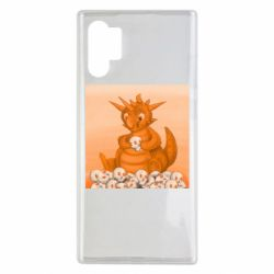 Чохол для Samsung Note 10 Plus Cute dragon with skulls