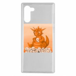 Чохол для Samsung Note 10 Cute dragon with skulls