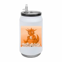 Термобанка 350ml Cute dragon with skulls