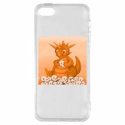 Чохол для iphone 5/5S/SE Cute dragon with skulls