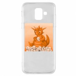 Чохол для Samsung A6 2018 Cute dragon with skulls