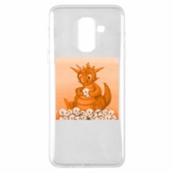 Чохол для Samsung A6+ 2018 Cute dragon with skulls