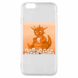 Чохол для iPhone 6/6S Cute dragon with skulls