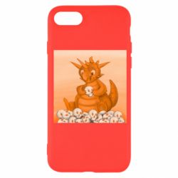 Чохол для iPhone 7 Cute dragon with skulls