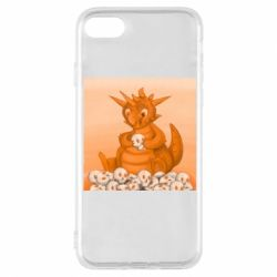 Чохол для iPhone 8 Cute dragon with skulls
