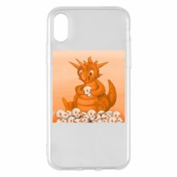 Чохол для iPhone X/Xs Cute dragon with skulls