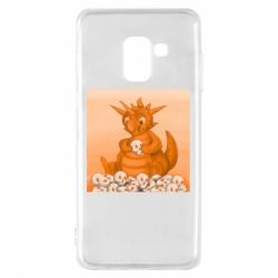 Чохол для Samsung A8 2018 Cute dragon with skulls