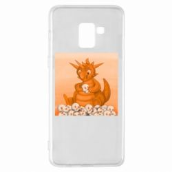 Чохол для Samsung A8+ 2018 Cute dragon with skulls