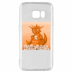Чохол для Samsung S7 Cute dragon with skulls