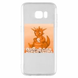 Чохол для Samsung S7 EDGE Cute dragon with skulls