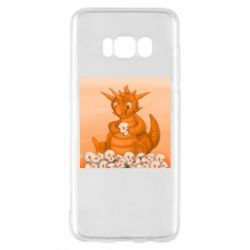 Чохол для Samsung S8 Cute dragon with skulls