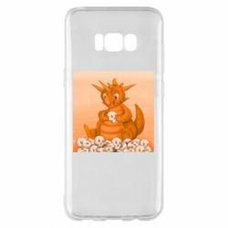 Чохол для Samsung S8+ Cute dragon with skulls
