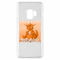 Чохол для Samsung S9 Cute dragon with skulls