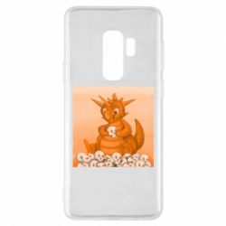 Чохол для Samsung S9+ Cute dragon with skulls