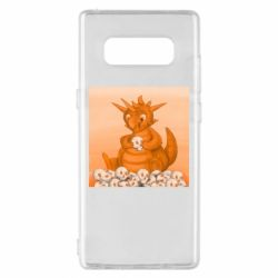 Чохол для Samsung Note 8 Cute dragon with skulls