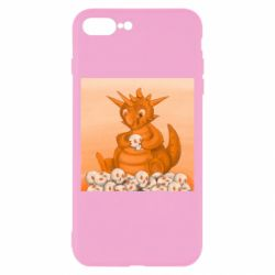 Чохол для iPhone 8 Plus Cute dragon with skulls