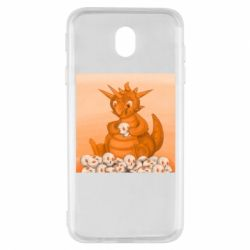 Чохол для Samsung J7 2017 Cute dragon with skulls