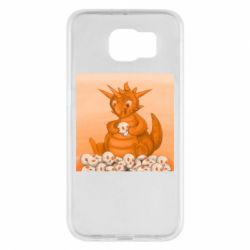Чохол для Samsung S6 Cute dragon with skulls