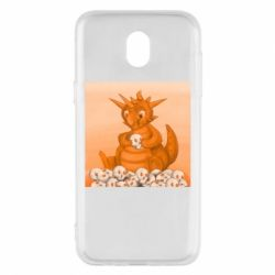Чохол для Samsung J5 2017 Cute dragon with skulls