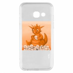Чохол для Samsung A3 2017 Cute dragon with skulls