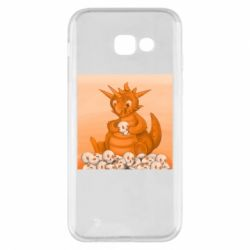 Чохол для Samsung A5 2017 Cute dragon with skulls