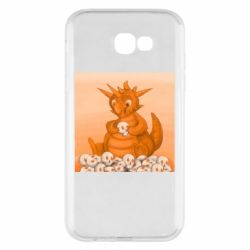 Чохол для Samsung A7 2017 Cute dragon with skulls