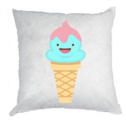 Подушка Cute face ice cream