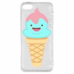 Чохол для iphone 5/5S/SE Cute face ice cream