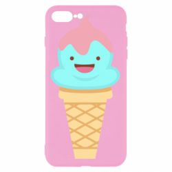 Чохол для iPhone 7 Plus Cute face ice cream