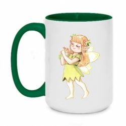 Кружка двоколірна 420ml Cute Fairy in watercolor style