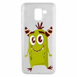 Чохол для Samsung J6 Cute green monster