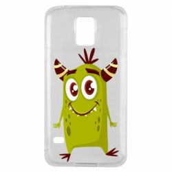 Чохол для Samsung S5 Cute green monster