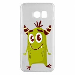 Чохол для Samsung S6 EDGE Cute green monster