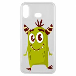 Чохол для Samsung A6s Cute green monster